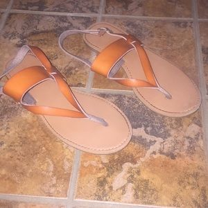 Cat & Jack Girls Brown Sandals Size 2